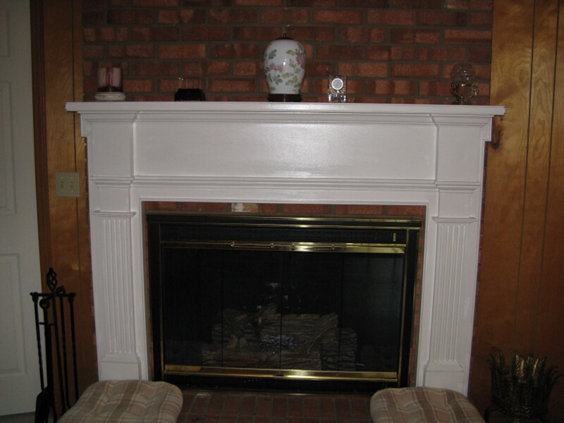 Wooden Fireplace Mantel #