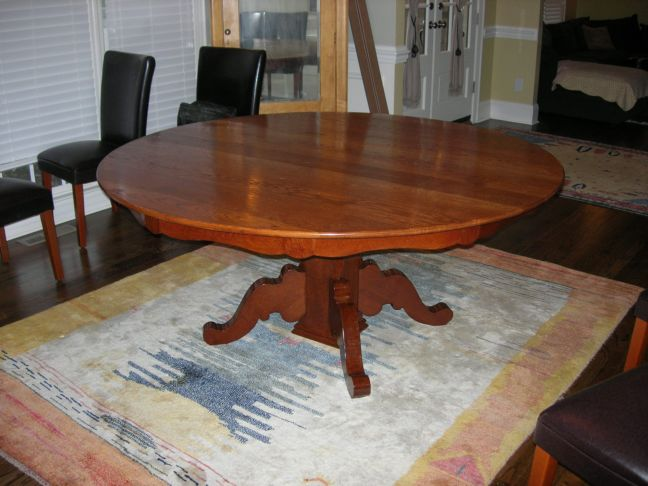 Oak Table Refinish